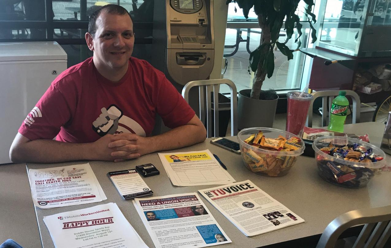 Greg tabling at the Colorado Springs call center for the first time on August 10.